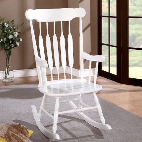 Windsor Arrow Back Country Style Wood Rocking Chair
