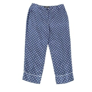 WEEKEND MAX MARA NEW Blue Women's Size 12 Necktie Print Silk Pants