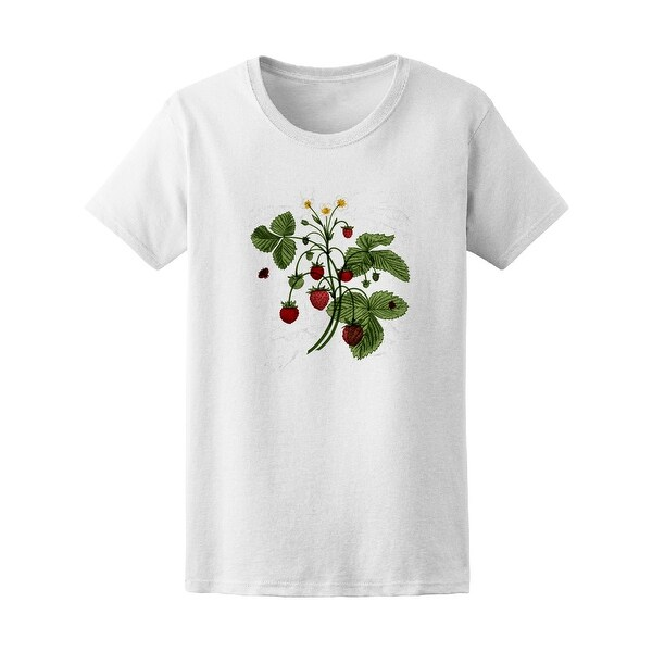 3c56cd92895d4 Vintage Wild Strawberry Bush Tee Women's -Image by Shutterstock