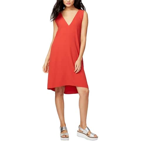 Rachel Roy Womens Craped Cross Back A-Line Dress