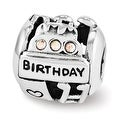 Sterling Silver Reflections Swarovski Birthday Collage Bead (4mm Diameter Hole) - Thumbnail 0