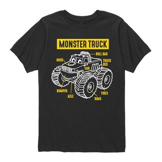 Monster Truck Parts - Boys Short Sleeve T-Shirt