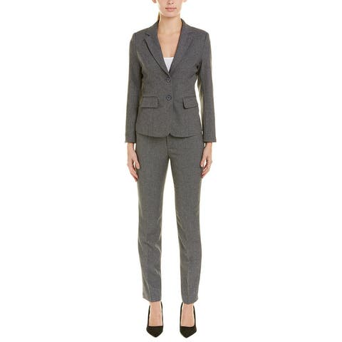 Withyou 2Pc Jacket & Pant Set - Gray