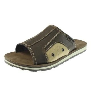 Dr. Scholl's Mens Bowers Slide Sandals Leather Colorblock