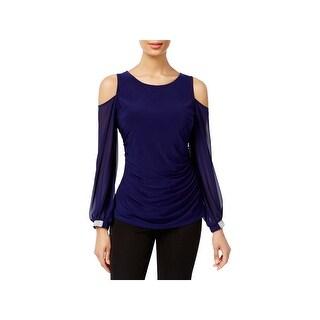MSK Womens Blouse Cold Shoulder Embellished