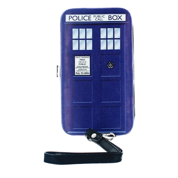 Doctor Who Women's TARDIS Hinged Clutch Purse - Multi