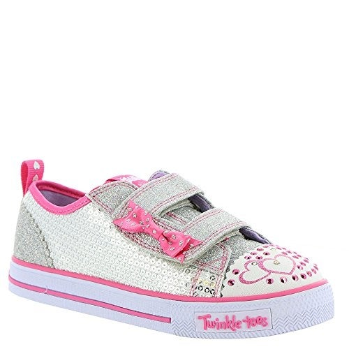 Shop Skechers Twinkle Toes Shuffles Itsy Bitsy Girls Light Up Sneakers  Silver Hot Pink - Free Shipping Today - Overstock - 20999828 13021177e8f1