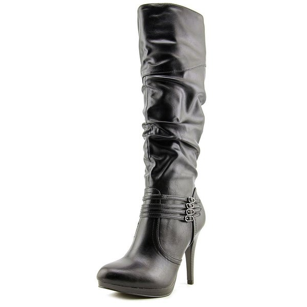 Style & Co Lindie Women Round Toe Synthetic Black Knee High Boot
