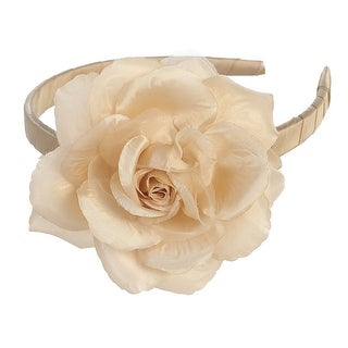 Girls Champagne Large Flower Hairband Accessory