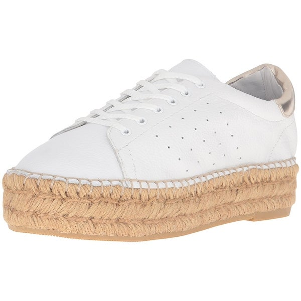 STEVEN by Steve Madden Womens Pace Leather Low Top Lace Up Fashion Sneakers