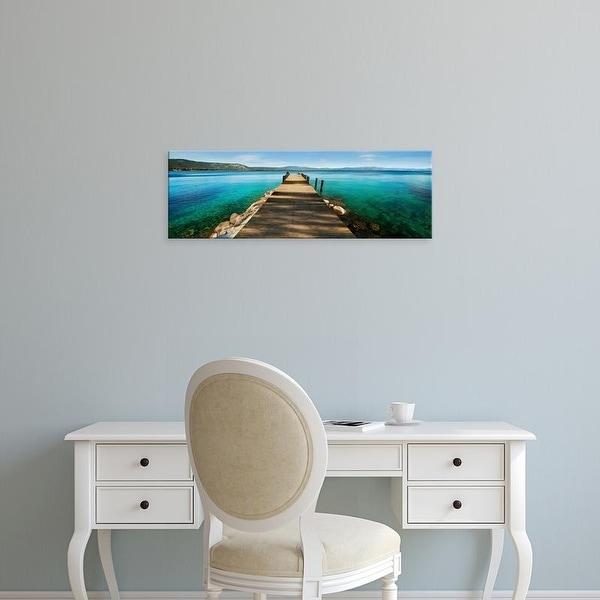 Easy Art Prints Natalie Mikaels's 'Hues of Blue' Premium Canvas Art