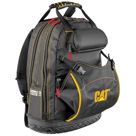 Cat 18 in. Pro Tool Backpack 31 Pockets Laptop Sleeve 1680D Polyester - 240049