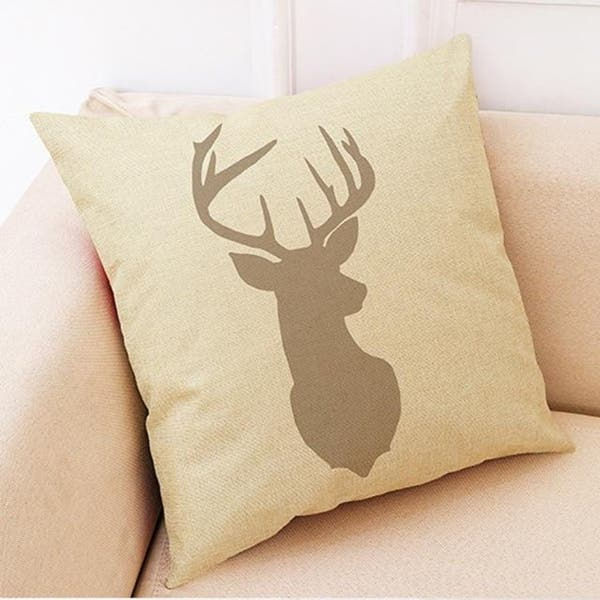 Xmas Deer Antlers Pattern Home Decor Cushion Cover 21298388 283 Overstock 25589730