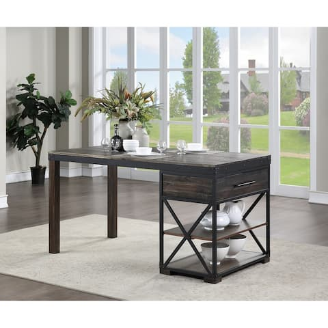 """Somette Canyon Ridge Brown Counter Height Dining Table - 66""""W x 36""""D x 36""""H"""