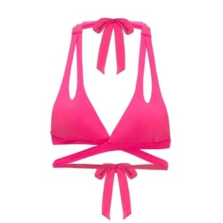 Designer NEW Pink Women's Size Medium M Halter Bikini Top Swimwear