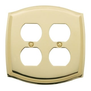 Baldwin 4781 Colonial Style Solid Brass Double Duplex Switchplate (5 options available)