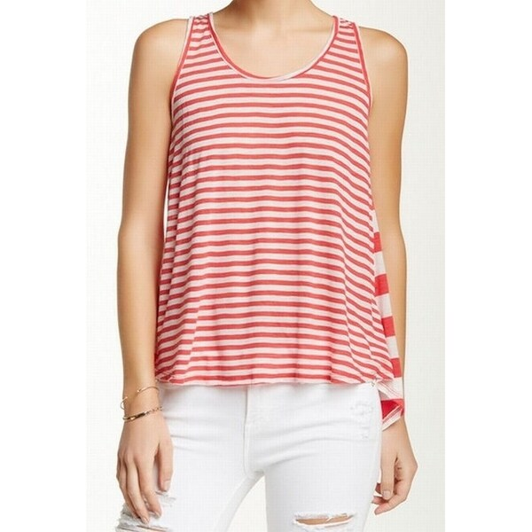 cf84fc19b20f Shop Le Lis NEW Pink Striped Women s Size Medium M Tank Cami Split-Back Top  - Free Shipping On Orders Over  45 - Overstock - 17247391