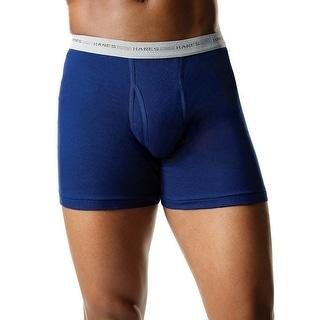 Hanes Men's Assorted Blues Boxer Brief P2