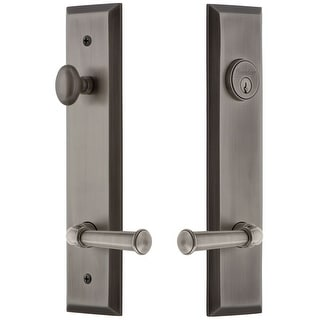 Grandeur FAVGEO_TP_ESET_238_RH  Fifth Avenue Solid Brass Tall Plate Single Cylinder Keyed Entry Set with Georgetown Lever and