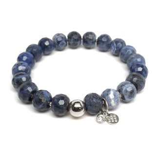 "Blue Sodalite London 7"" Silver Bracelet"
