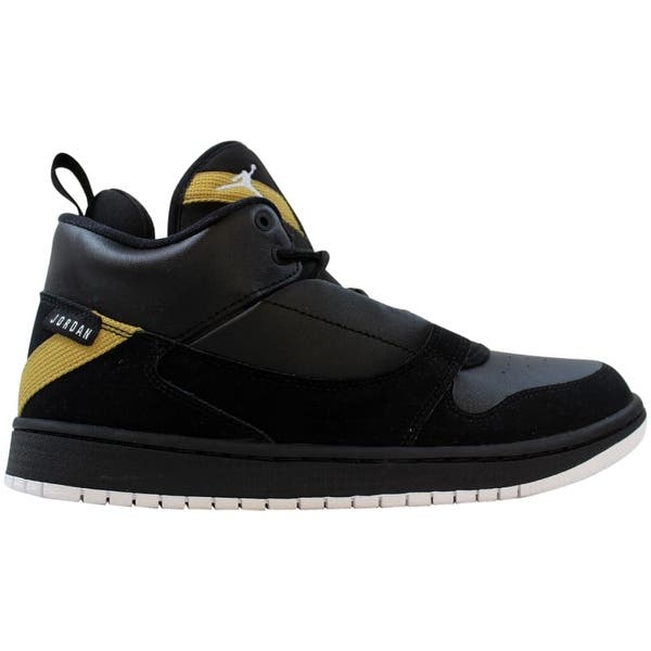 Shop Black Friday Deals On Nike Air Jordan Fadeaway Black White Metallic Gold Ao1331 017 Grade School Size 7y Overstock 29884632