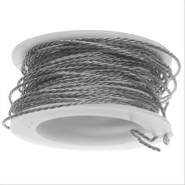 Artistic Wire, Twisted Craft Wire 20 Gauge Thick, 3 Yard Spool, Stainless Steel
