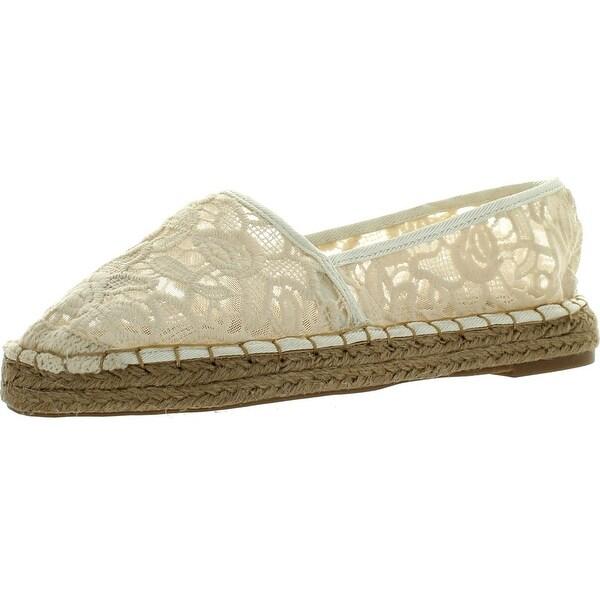 dd1ac0f9a Dollhouse Womens Flirt Espadrille Lace Comfortable Fashion Flats Shoes -  beige lace