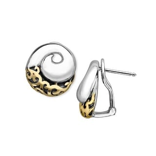 Evert DeGraeve Spiral Earrings in Sterling Silver & 14K Gold - Two-tone