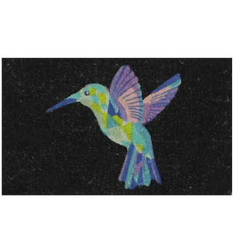 "Hummingbird Rectangular Welcome Coir Door Mat 29"" x 18"""