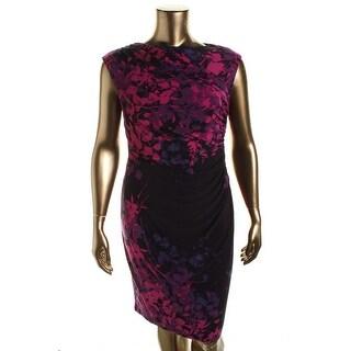 American Living Womens Matte Jersey Printed Wear to Work Dress