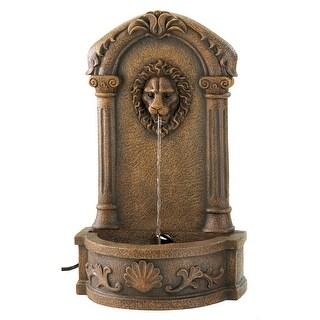 Lion's Head Courtyard Fountain