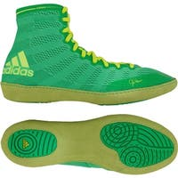Adidas adiZero Varner High Top Wrestling Shoes - Flash Lime/Yellow
