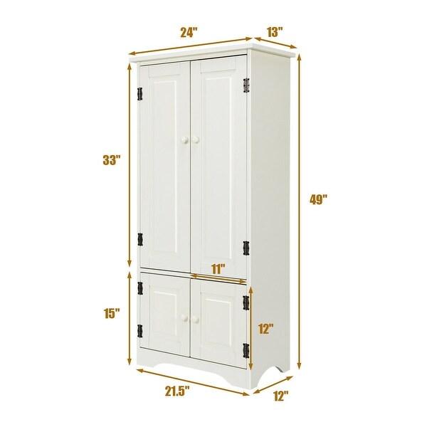 "Accent Storage Cabinet Adjustable Shelves - White - 24"" x 13"" x 49"" (L x W x H)"