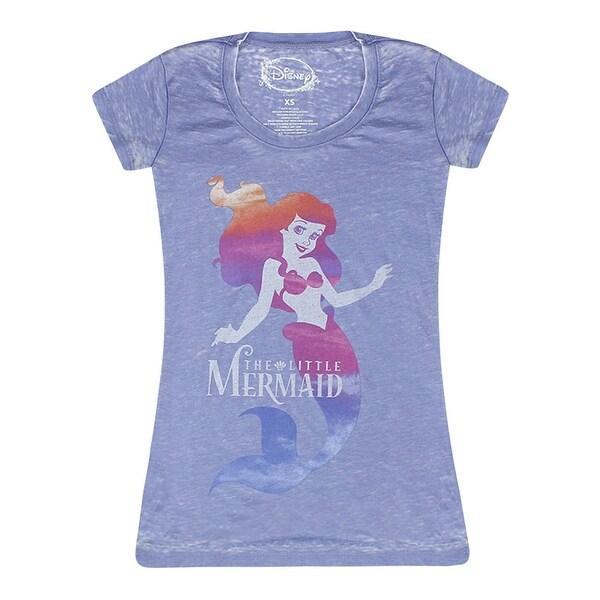 4e86b730 ... Women's Clothing; /; Tops; /; Women's Graphic Tees. Disney The Little  Mermaid Logo Distressed Ariel Graphic Women's Blue ...