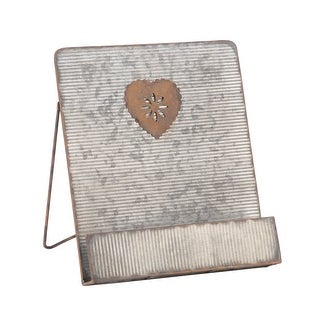 Link to Galvanized Heart Cookbook Stand Similar Items in Kitchen Storage