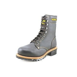 "Caterpillar Logger 9"" St Men Round Toe Leather Brown Work Boot"
