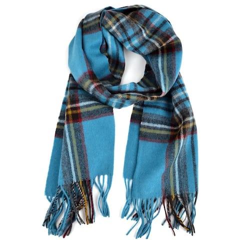 Plaid Unisex Premium Quality 100% Wool Scarf - Regular