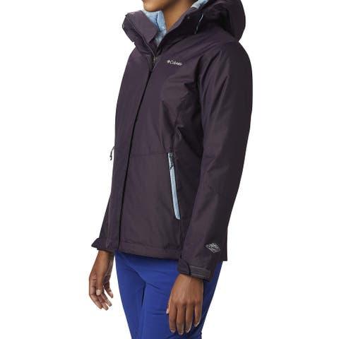 Columbia Women's Jacket Blue Purple Size Medium M Interchange Hooded