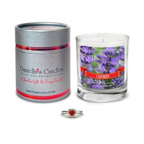 Daniella's Candles Lavender Jewelry Candle - Ring Size 5