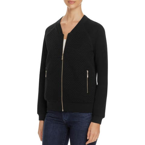 Finity Womens Bomber Jacket Quilted Glitter
