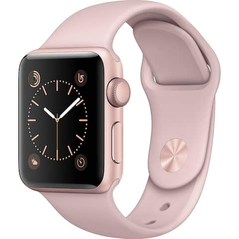 Apple Watch Series 2 38mm Rose Gold Aluminum Case & Pink Band (Refurbished)