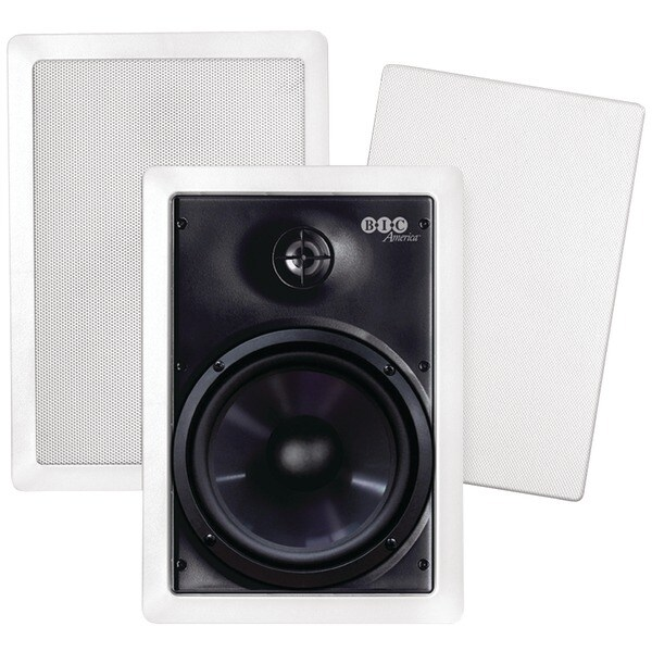 "Bic America M-Pro6W 6.5"" Weather-Resistant In-Wall Speakers"
