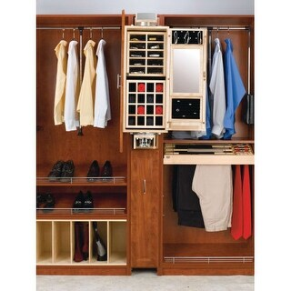 Rev-A-Shelf CAG-081642-1 CA Series 8 x 16 x 42 Inch Gentleman's Closet Armoire
