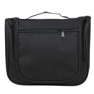 Unique Bargains Compartment Nylon Makeup Case Cosmetic Travel Outdoor Wash Bag