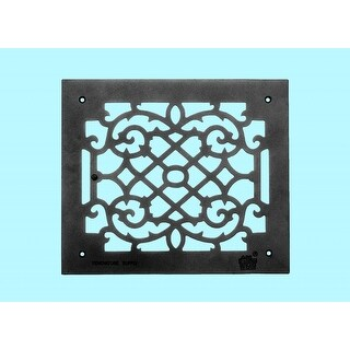 Heat Air Grille Cast Victorian Overall 12 x 14