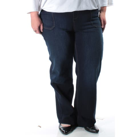 STYLE & COMPANY $41 Womens New 1271 Navy Trouser Casual Jeans 4