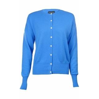 Sutton Studio Womens 100% Cashmere Crewneck Cardigan Sweater Misses
