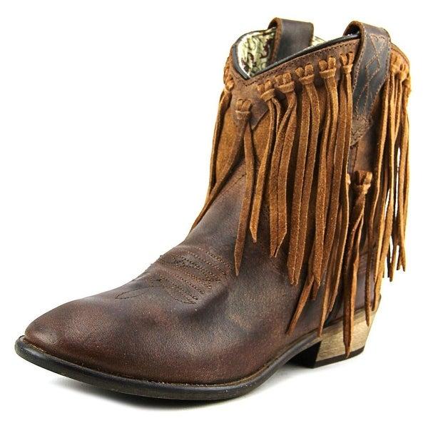 Dingo Gigi Round Toe Leather Western Boot