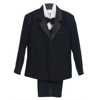 Boys Black 5 Piece Vest Jacket Pants Special Occasion Tuxedo Suit|https://ak1.ostkcdn.com/images/products/is/images/direct/1685a23e7c475be94fa8e9f195ccc62a9fa67bf1/Boys-Black-5-Piece-Vest-Jacket-Pants-Special-Occasion-Tuxedo-Suit.jpg?impolicy=medium