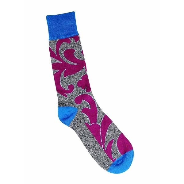 Alfani Men's Spectrum Filigree Socks (Grey, 10-13) - Blue - 10-13